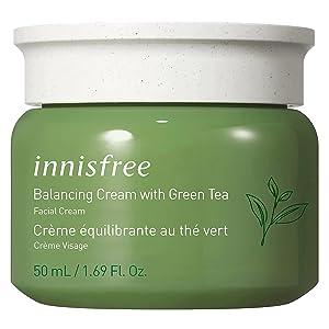 innisfree Green Tea Moisture Balancing Cream Hydrating Face Moisturizer
