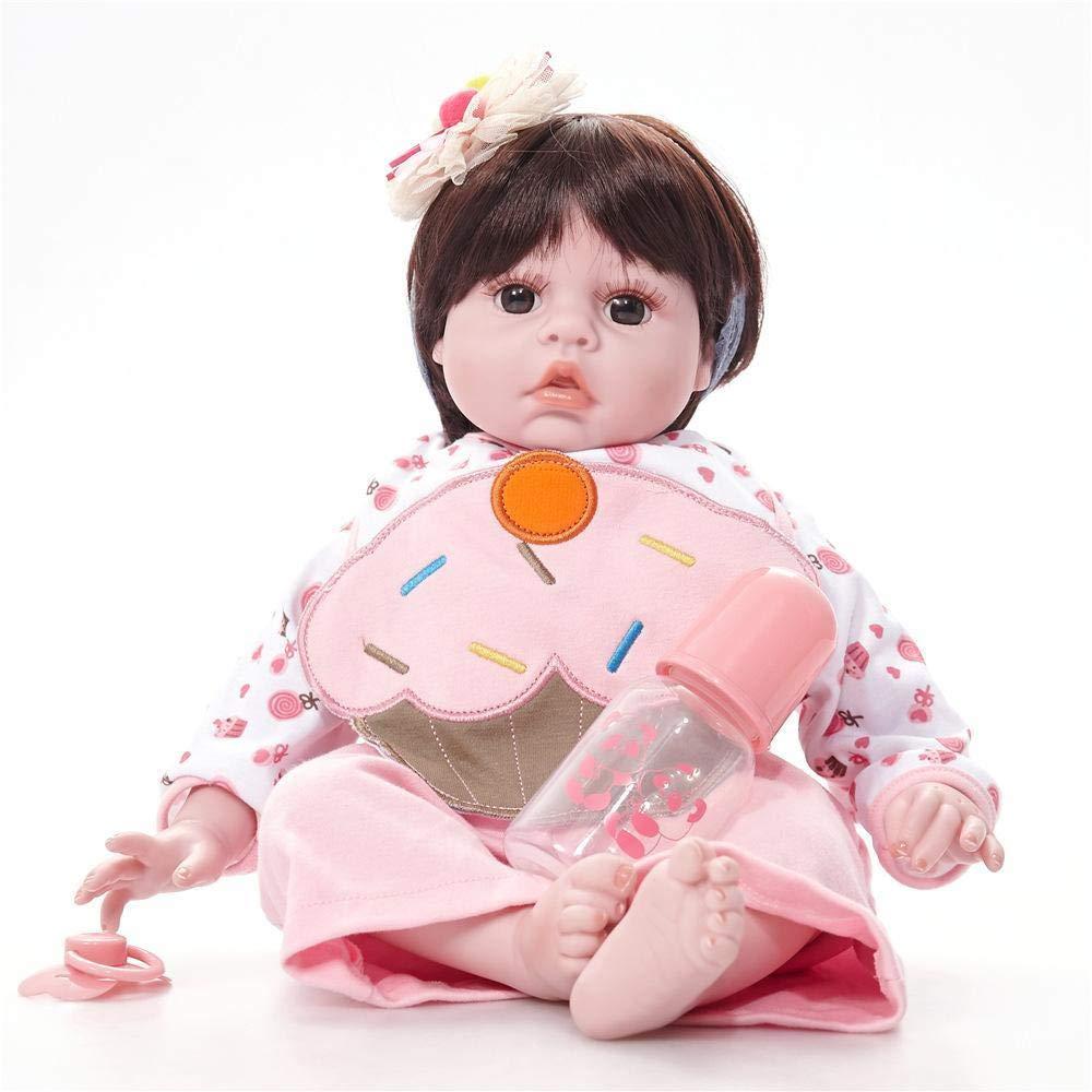 Hongge Reborn Baby Doll,Realistische Baby Wiedergeburt Puppe Spielzeug Lebensechte Wiedergeburt Puppe Spielzeug 50cm