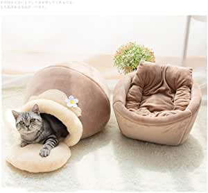 Mopoq Cat Cave Dog Sleeping Bag Semi-Closed Warm Cat House Washable Soft Warm Pet Bed Nest For Cat Kitten Dog (Size : XS)