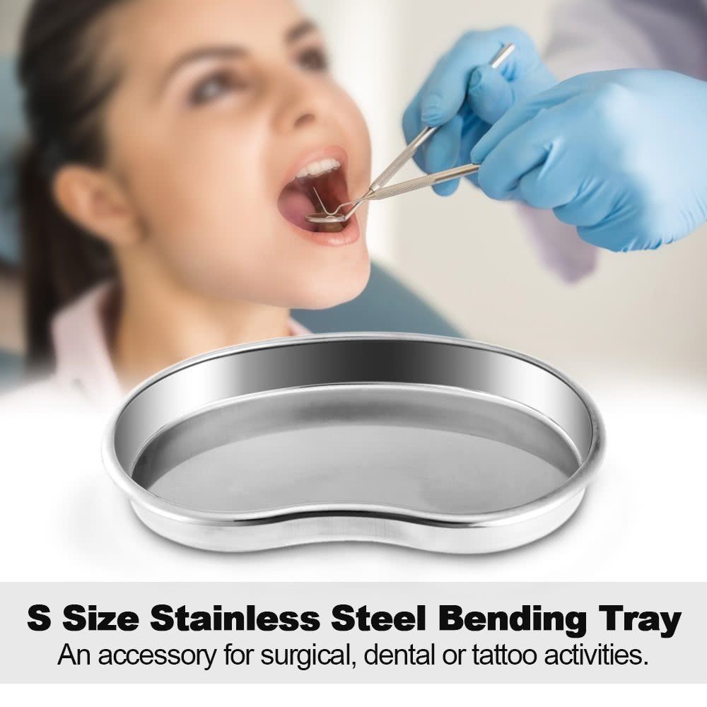 Stainless Steel Bending Kidney Tray Disinfection Plate Surgical Medical Dental Eyebrow Lip Tattoo by AppleLand (Image #4)