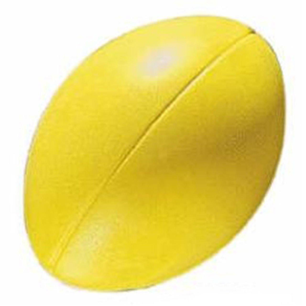 Soft Sponge Rugby Ball Lightweight Indoor & Outdoor Playing Foam Balls Yellow OSG