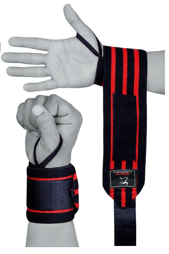 Islero Fitness Weightlifting wrist Support Wraps 18 Gym Straps Bandage Gloves