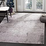 Safavieh Adirondack Collection ADR130M Light Grey and Purple Modern Abstract Vintage Area Rug (6′ Square) For Sale