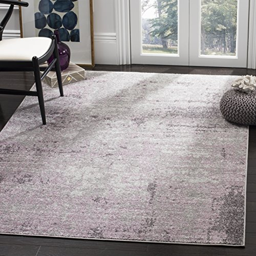 Cheap Safavieh Adirondack Collection ADR130M Light Grey and Purple Modern Abstract Vintage Area Rug (8′ x 10′)