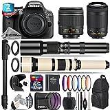 Holiday Saving Bundle for D3300 DSLR Camera + AF-P 70-300mm VR Lens + 650-1300mm Telephoto Lens + AF-P 18-55mm + 500mm Telephoto Lens + 6PC Graduated Color Filter Set - International Version