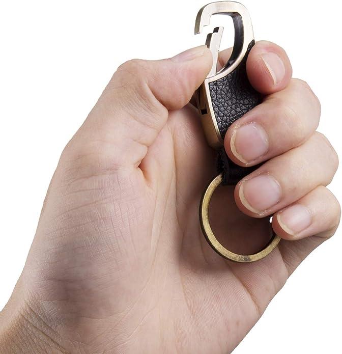 Amazon.com: Bakun - Llavero de cuero hecho a mano para ...