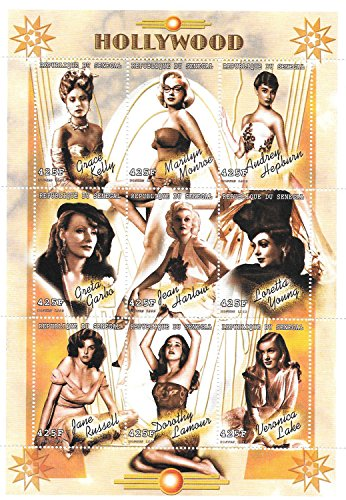 Collectible Stamps - Female Movie Stars Hollywood Women MNH Souvenir Sheet / Senegal / 1999 Mnh Souvenir Sheet