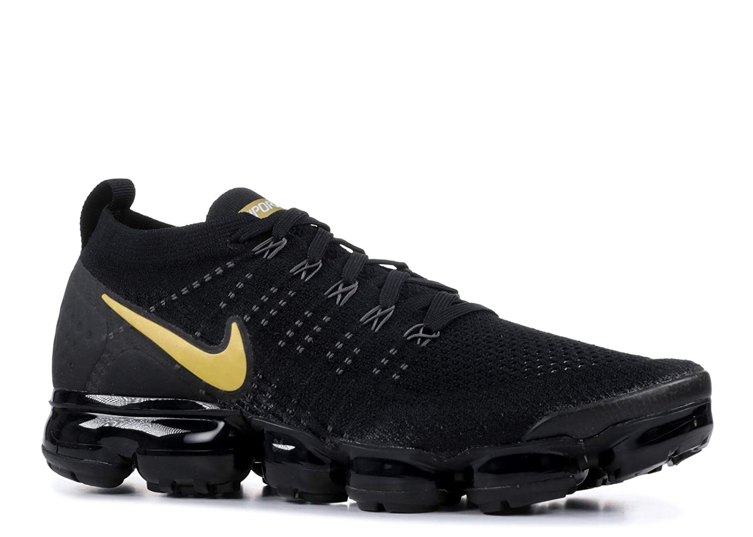 outlet store 0e79c 3b0d7 Nike Women's Air Max Vapormax Flyknit 2 Black/Metallic Gold-Metallic  Platinum 942843-012