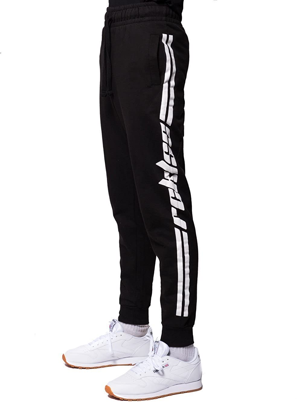 Young & Reckless - Racer Sweatpants - Black/White - - Mens - Bottoms - Sweatpants - 92897771535