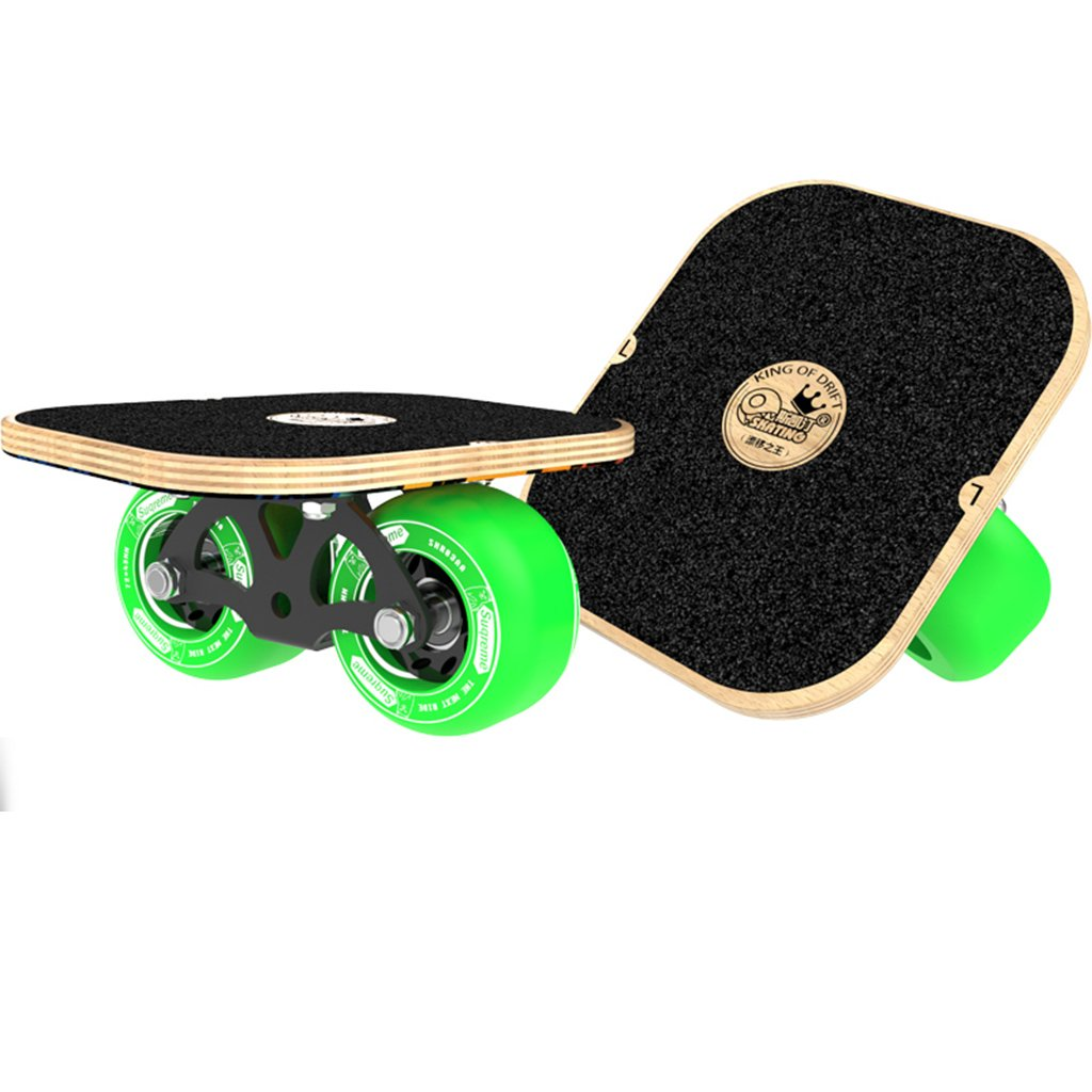 上品な ドリフトフリーラインスケート大人のフラッシュの子供四輪スケートボード交通道路マットブラックハンドパターンを描いた Green B07FM3C1HH B07FM3C1HH Green, コウラチョウ:f48fd022 --- a0267596.xsph.ru