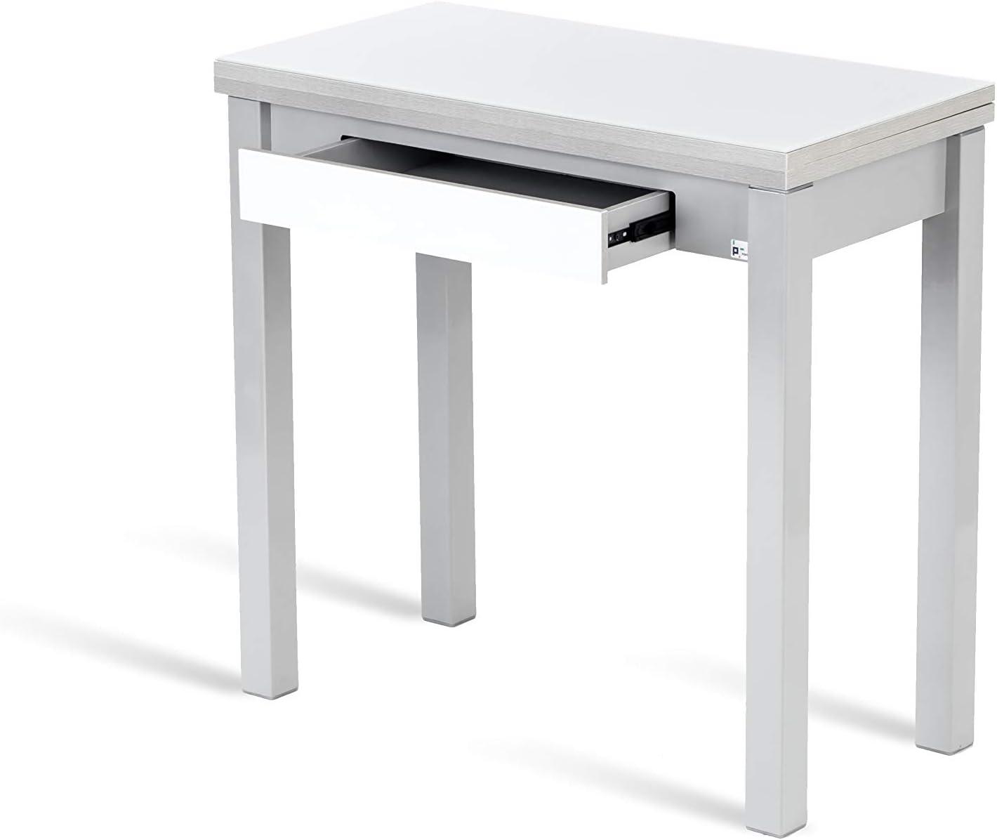 Portus Conjunto Romero - 1 Mesa Libro 80x40(80) (Cristal Blanco) + ...