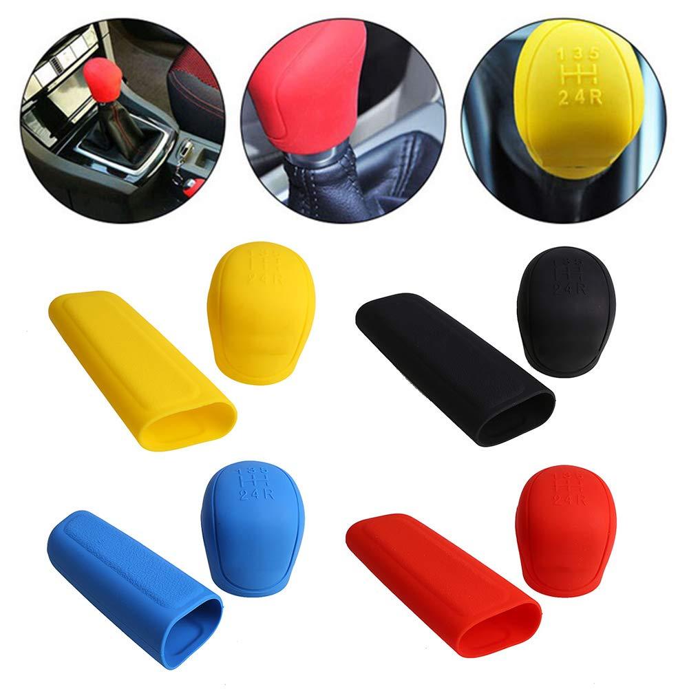 Gallocabe 2 pezzi//set silicone car gear pomello del cambio copertura del freno a mano protector-blu