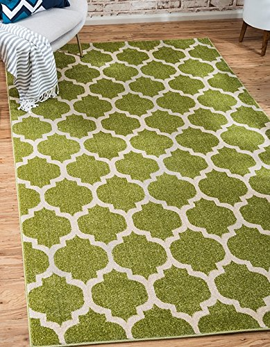 Unique Loom Trellis Collection Light Green 2 x 3 Area Rug (2' 2