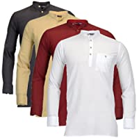 Feed Up Men's Cotton Kurta - Pack of 4