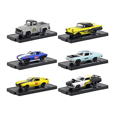Drivers 6 Cars Set Release 55 in Blister Packs 1/64 Diecast Model Cars by M2 Machines 11228-55: Toys & Games