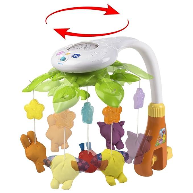 Winfun - Proyector de cuna musical & 4 animales colgantes (ColorBaby 44241): Amazon.es: Juguetes y juegos