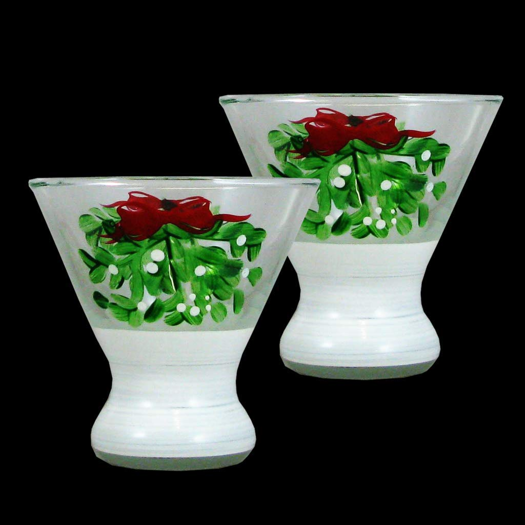 Crafted Creations 4'' Mistletoe Cosmos Set of 2