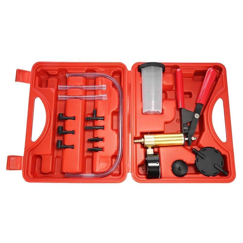 Swess Hand Held Vacuum Pump Brake Bleeder Kit Tester Set for Automotive Tuner Tools Adapters Case