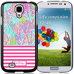 Lilly Pulitzer 19 Black Samsung Galaxy S4 Screen Cover Case Fashion and Newest Style