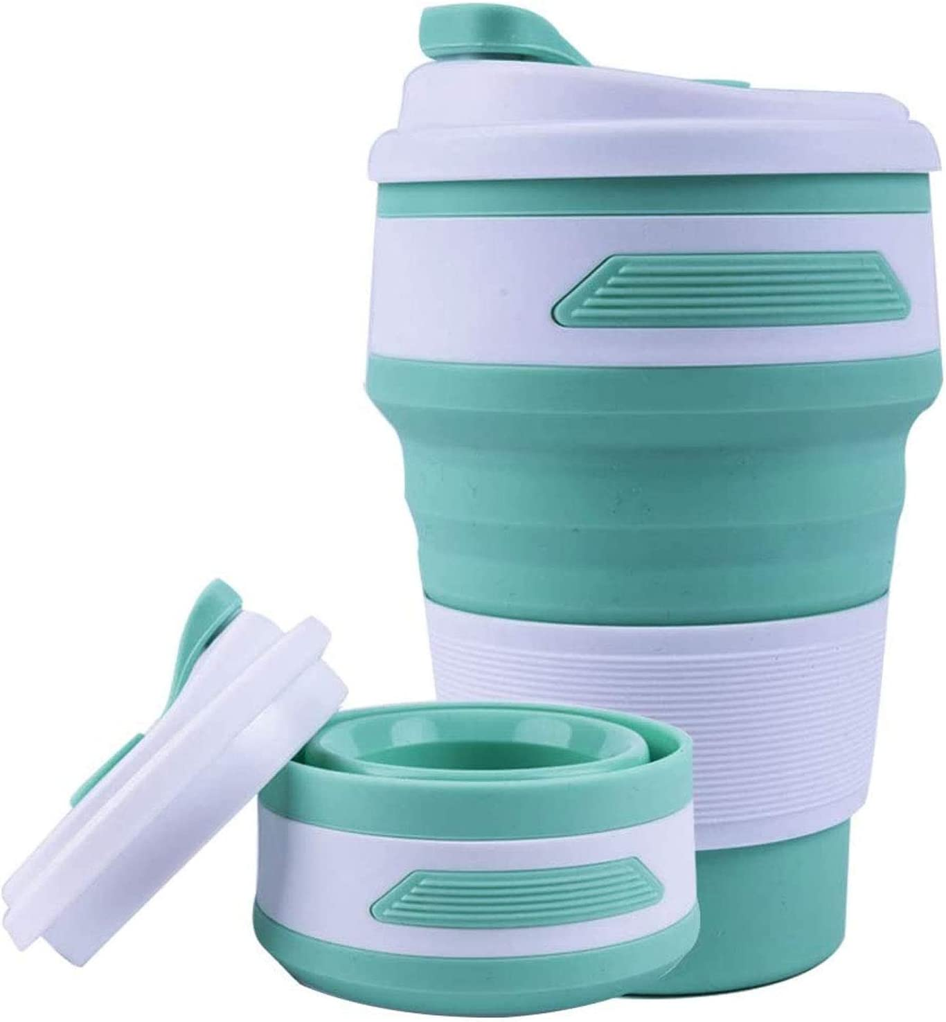 Portable Silicone Coffee Cup Collapsible Mug 12oz 350ml FDA