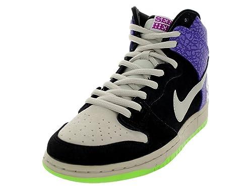 6de0c564c660 Nike Men s Dunk High PRM SH Black Mortar Dark Raspberry Skate Shoe 10.5 Men