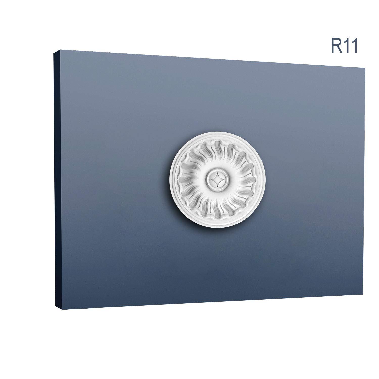 Ceiling Rose Rosette Orac Decor R11 LUXXUS Medallion Centre quality classic decorative white 19 cm = 7.4 inch diameter