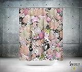 Floral Shabby Chic Shower Curtain. Boho gypsy style bathroom accessories. Add a matching bath mat!