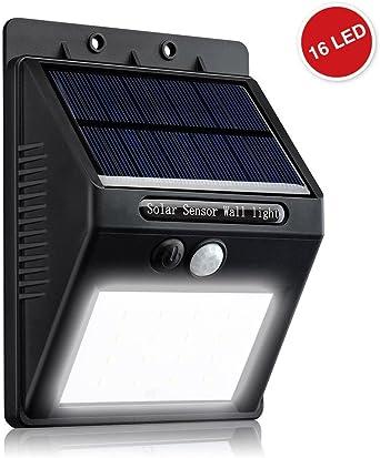 ZEEFO Luz Solar para Jardín, 16 Led Luces de Seguridad ...