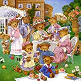 The Jigsaw Puzzle Factory Country Bears The Tea Party (300 Piece), Multicolor