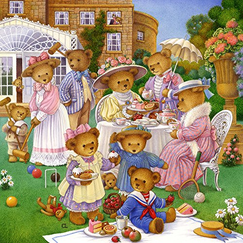 The Jigsaw Puzzle Factory Country Bears The Tea Party (300 Piece), Multicolor by The Jigsaw Puzzle Factory