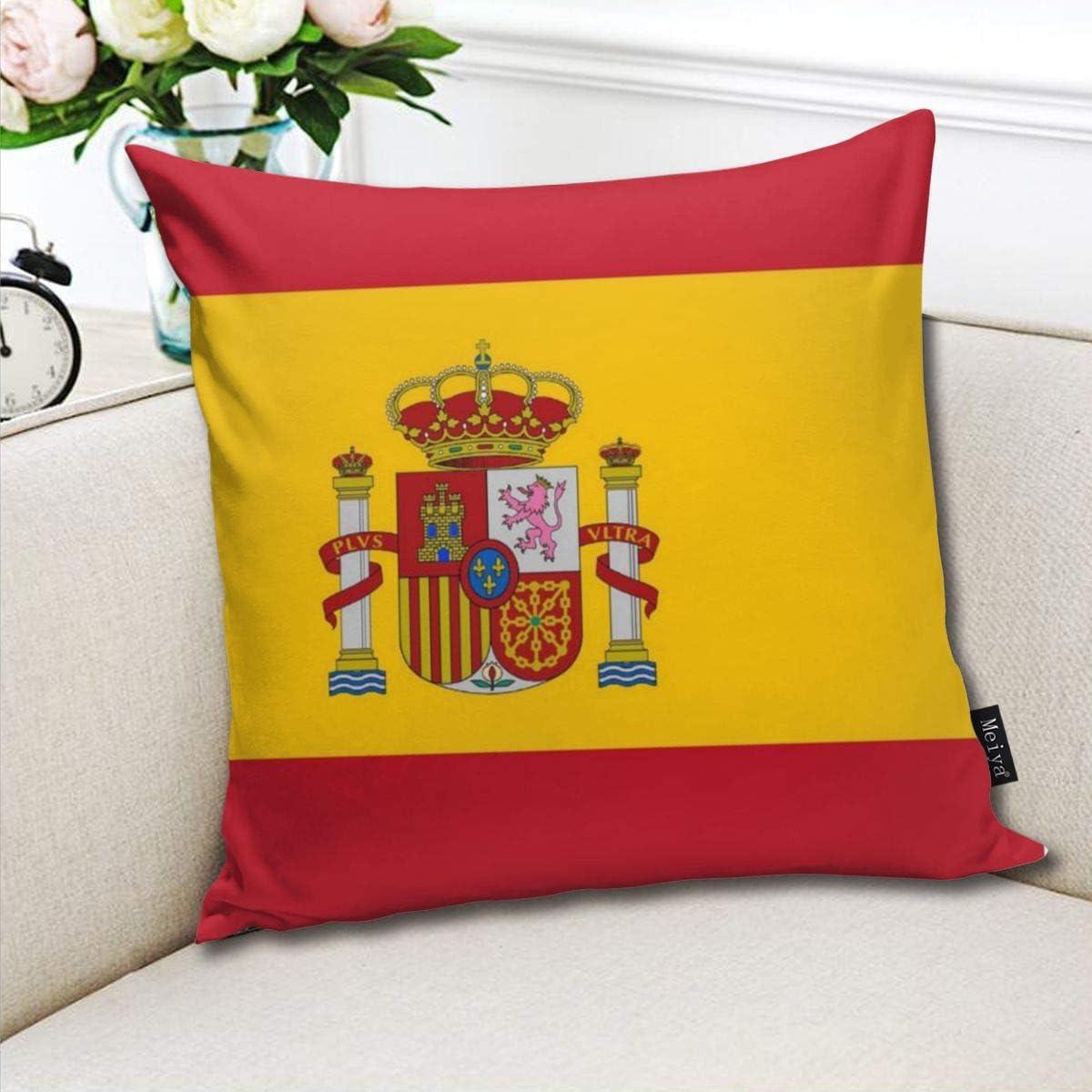 Dutars Funda de cojín Cuadrada con diseño de la Bandera de España de los Países Bajos para sofá o Cama de 18 x 18 Pulgadas: Amazon.es: Hogar