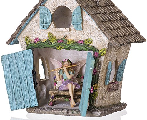 Joykick Fairy Garden House Kit Hand Painted With Opening
