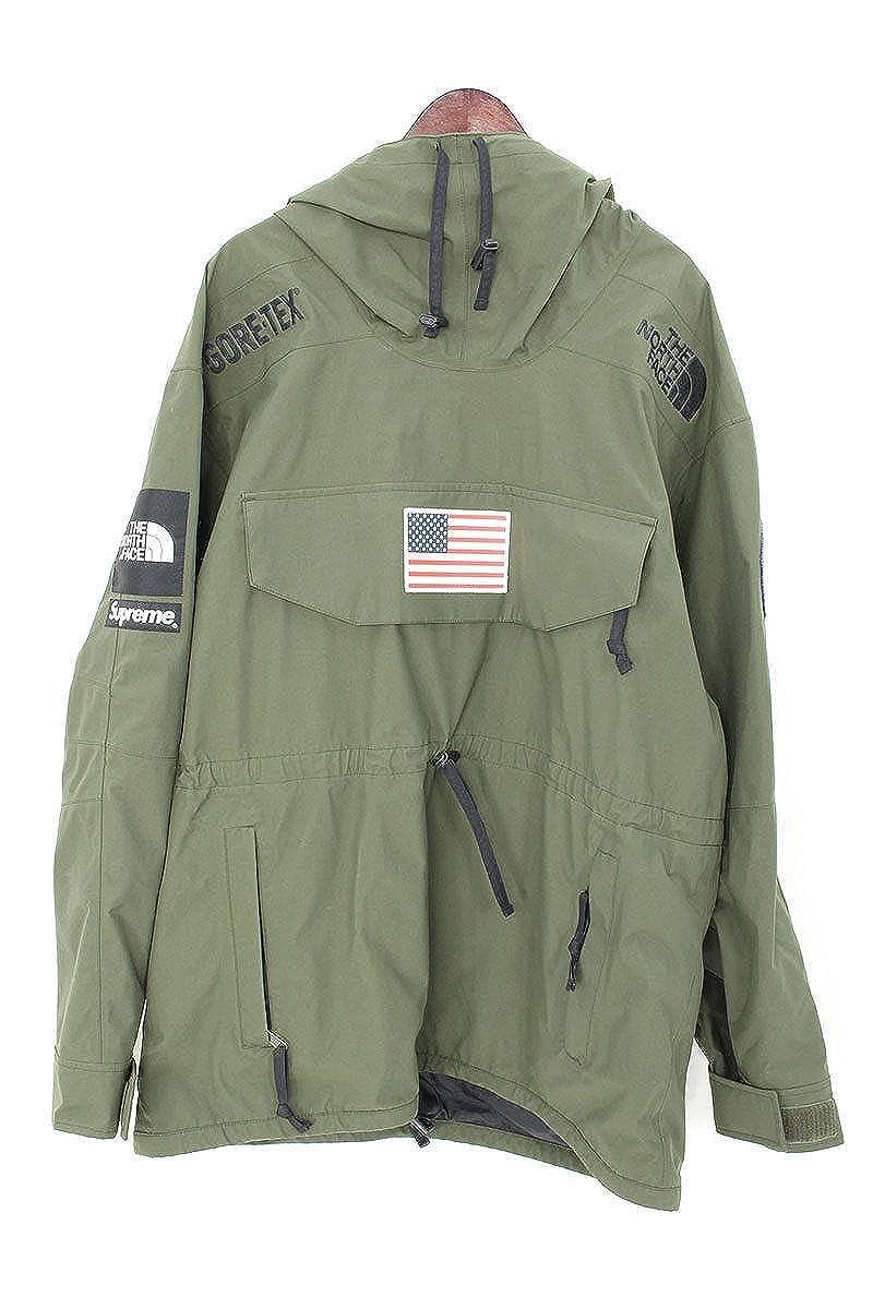 (シュプリーム) SUPREME ×ノースフェイス/THE NORTH FACE 【17SS】【Trans Antarctica Expedition Fleece Jacket】アメリカンフラッグフリースジャケット(XL/オリーブ) 中古 B07DCQR9N5
