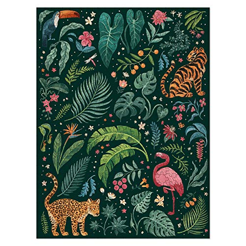 Americanflat 1000 Piece Jigsaw Puzzle, 20x27 Inches, Jungle Love Art by Janelle Penner