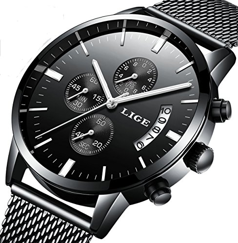 Watches,Men's Luxury Stainless Steel Wrist Watch in,Fashional Design and Elegant Dress For...