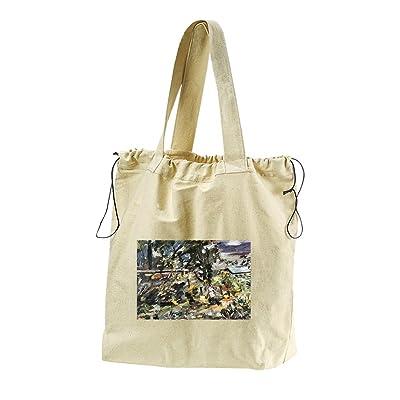 Silver Way (Lovis Corinth) Canvas Drawstring Beach Tote Bag