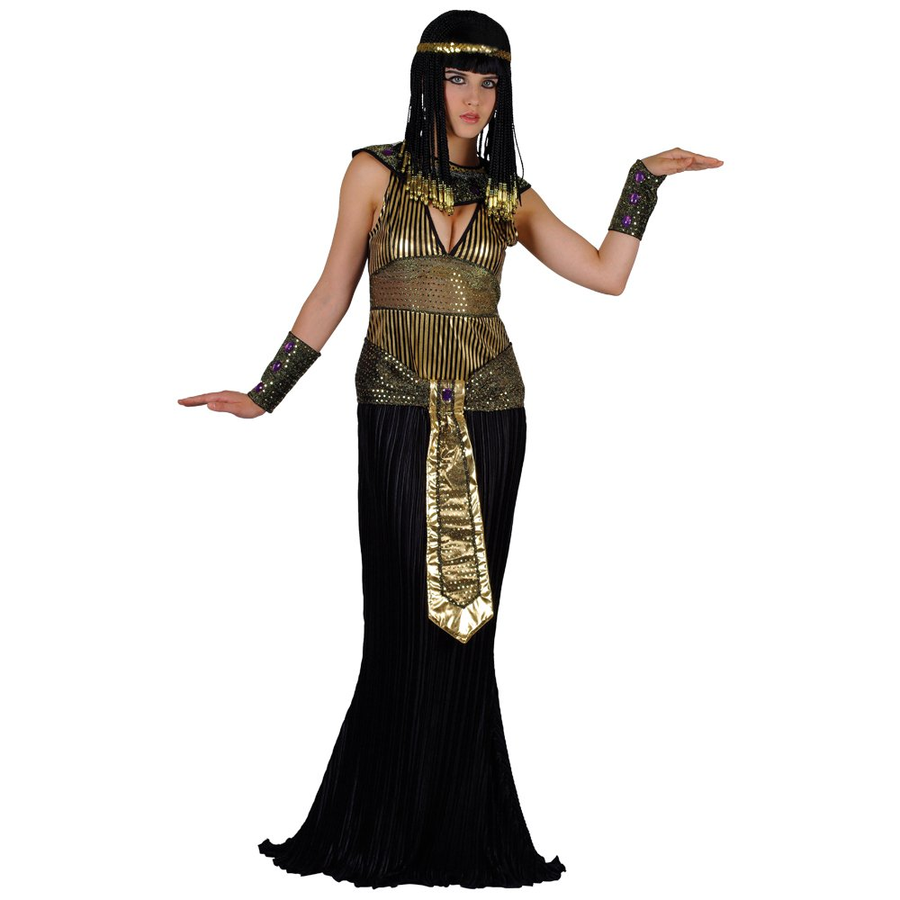 QUEEN CLEOPATRA EGYPTIAN LADIES COSTUME FANCY DRESS UP PARTY
