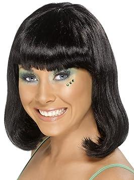 Smiffys - Peluca negra con glamour para mujer
