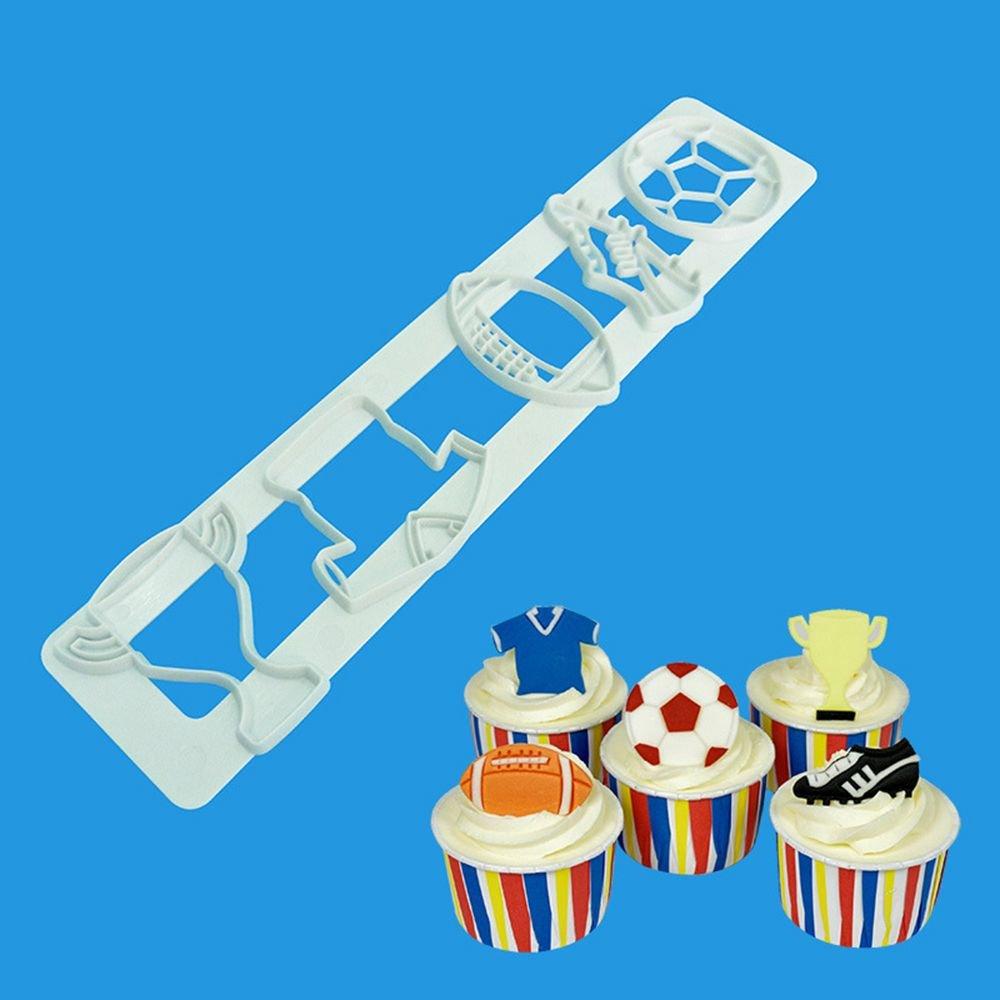 GOOTRADES Fu/ßball Sport Fondant Mold Kunststoff Ausstecher DIY Kuchen Backen Schokoladenform Geb/äck Cupcake Dekorieren Tools