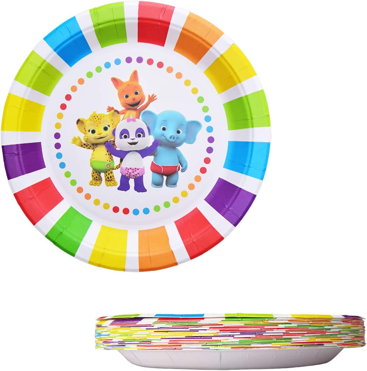 Birthday Party Supplies Decorations 24 Packs Plates for Word Party Plates Birthday Disposable Plates