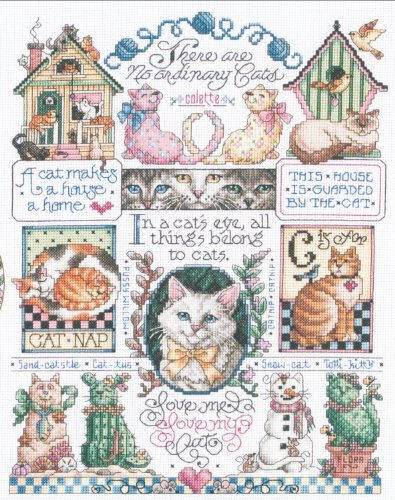 Cats, Cats, Cats Counted Cross Stitch Kit-11X14 14 Count
