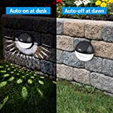 AMIR Solar Fence Lights Outdoor, 4 Pack 22LM Deck Lights, Auto On/Off Dusk to Dawn Post Lights, Waterproof Solar Garden Decorative Step Light, for Wall, Pathway, Driveway, Patio, Y