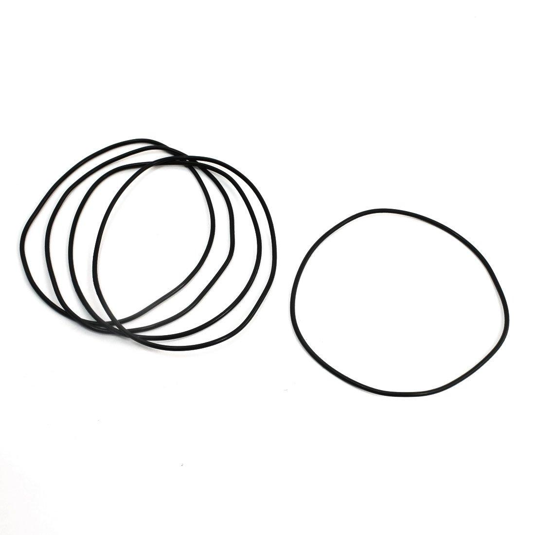 5 85 x 2 mm Flexible Gummi-Dichtungen Sealed O-Ringe Dichtungen Schwarz