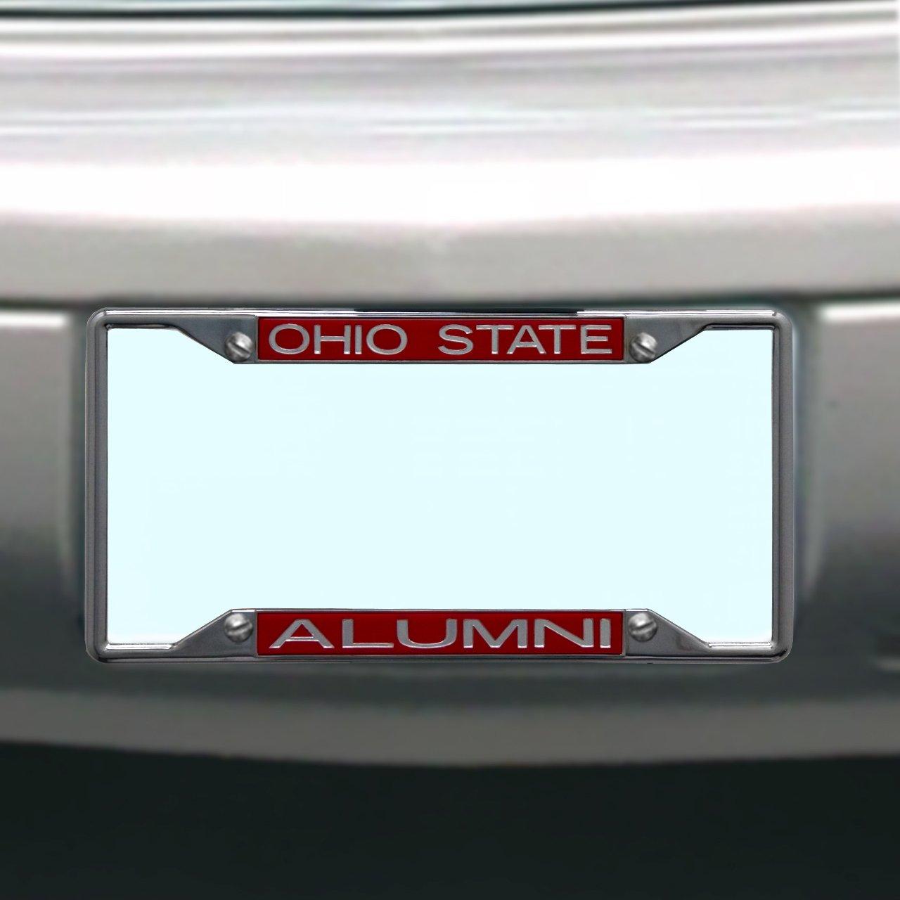 Beautiful Ohio State Alumni License Plate Frame Model - Framed Art ...