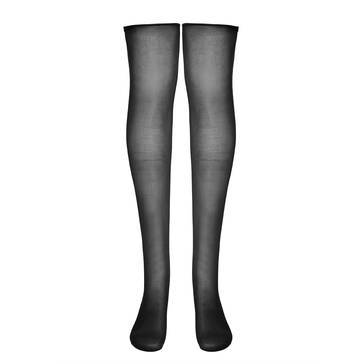 be08b2b2240bc ... Women's Control Top Ultra Shimmery Stretch 70D Thickness Footed Silk  Stockings Pantyhose Tights Black Long Stockings One Size: Amazon.co.uk:  Clothing