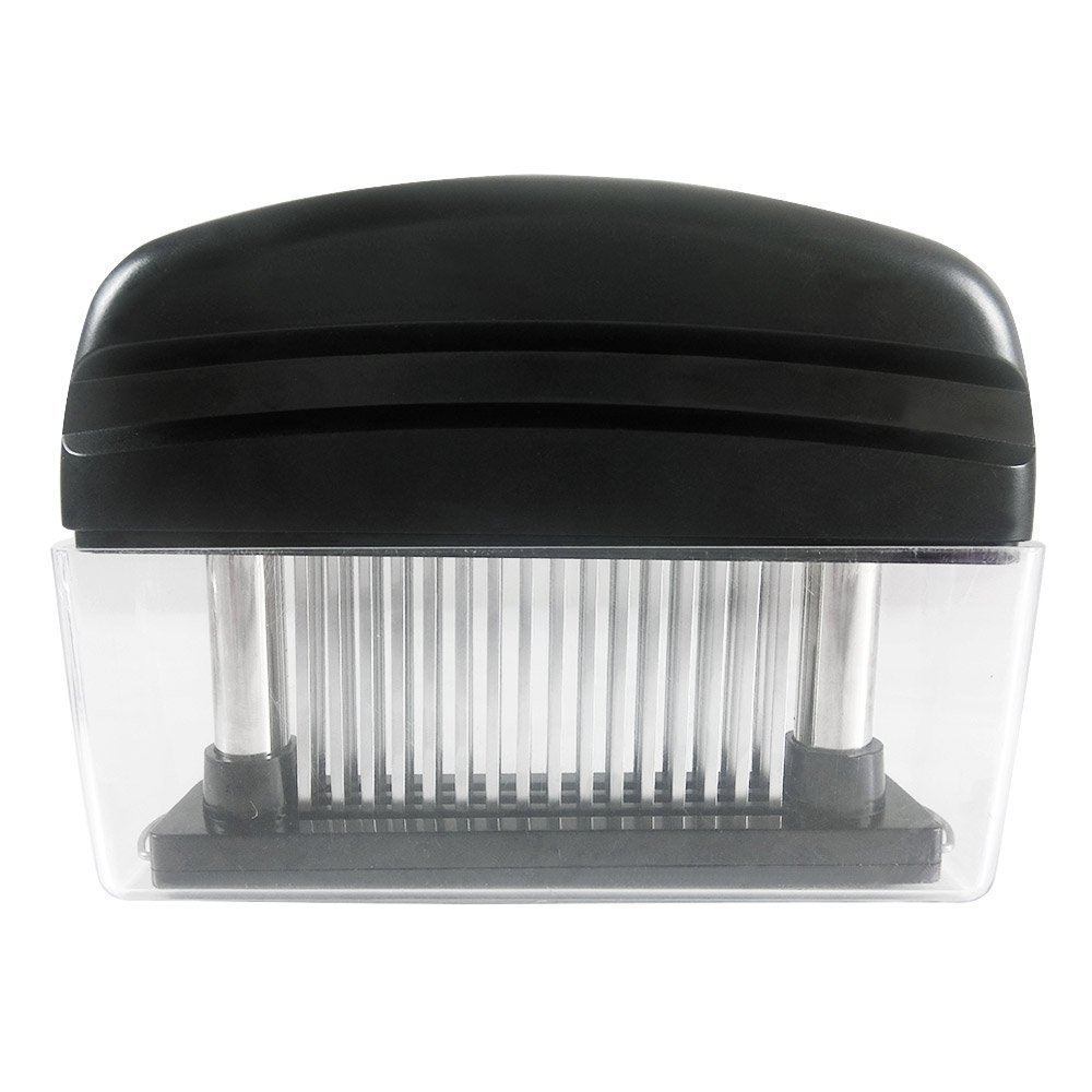 Meat Tenderizer with 48 Stainless Steel Blades, Black
