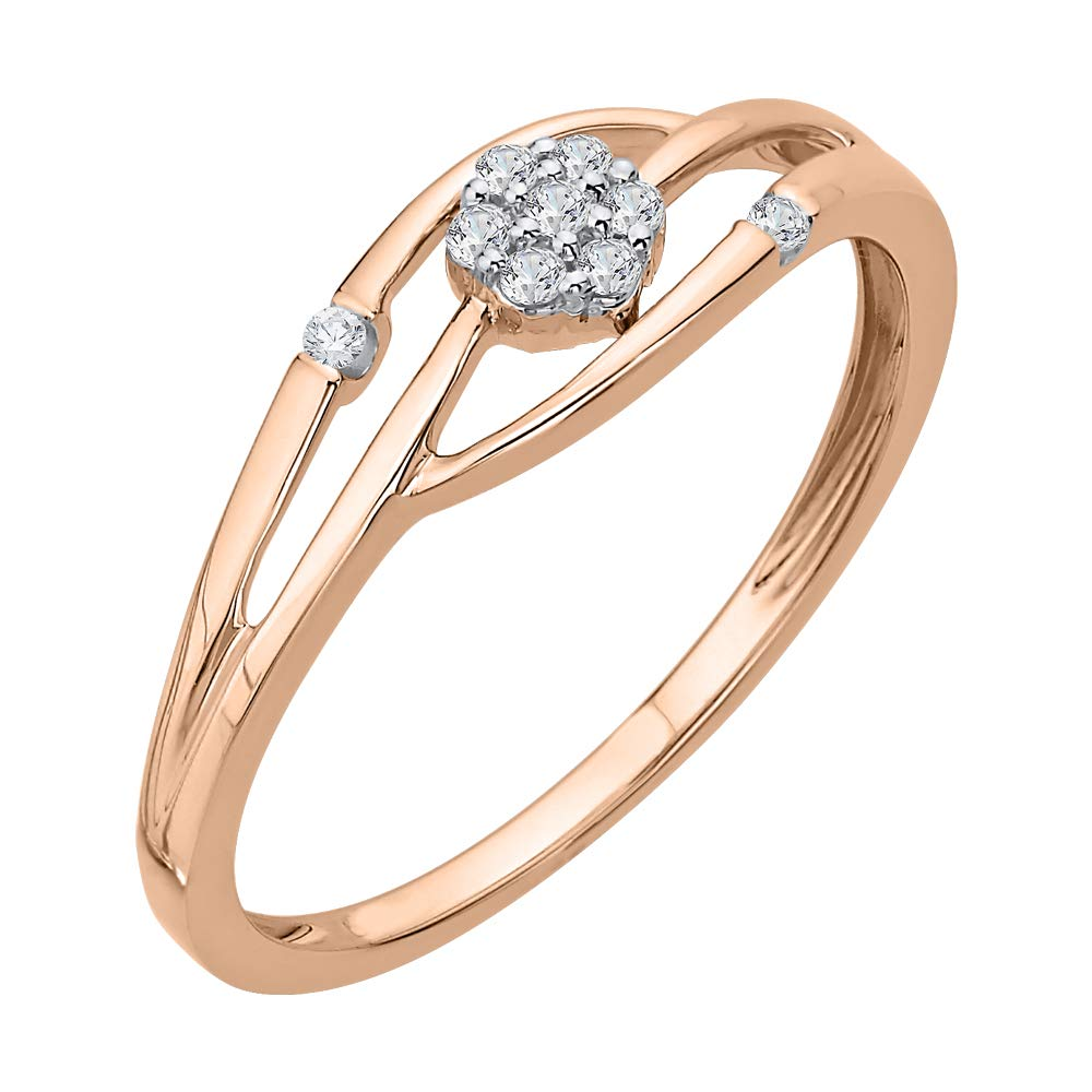 1//10 cttw, Size-9.5 G-H,I2-I3 Diamond Wedding Band in 14K Yellow Gold