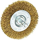 Vermont American 16791 3-Inch Course Brass Wire Wheel Brush with 1/4-Inch Hex Shank for Drill