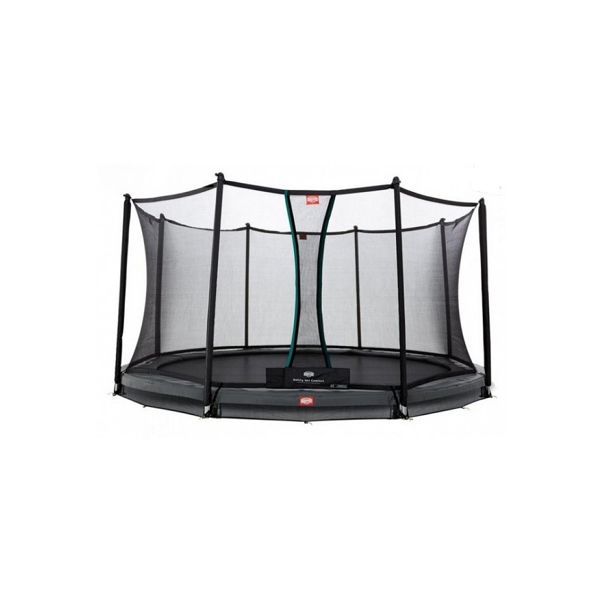 Berg® Trampolin InGround Elite mit Sicherheitsnetz Deluxe, ø 330 cm, Grau