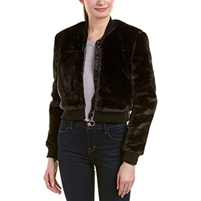 Bardot Womens Bomber Jacket, M, Black